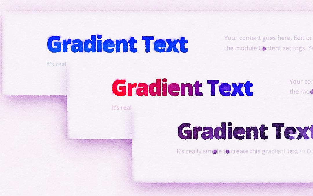 Gradient Text Color in Divi
